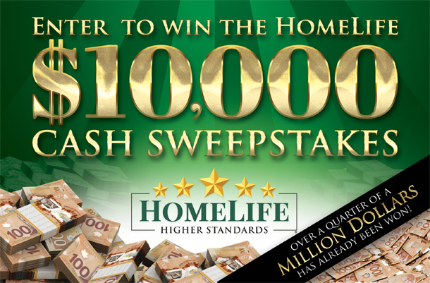 Enter to WIN the HomeLife Sweepstakes   HomeLife Real Estate