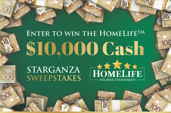 HomeLife's $10,000 Cash Starganza Sweepstakes